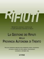 La gestione del rifiuti nella Provincia Autonoma di Trento